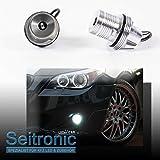 Seitronic LED Angel Eyes Corona Ringe mit effizienten 10 Watt und einer Farbstärke von 7000 Kelvin. Brennerleuchten in Xenon Weiß OHNE Fehlermeldung MIT langer Lebensdauer sowie als Standlicht einsetzbar.