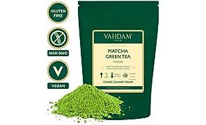 VAHDAM, Matcha Green Tea Powder (3.53oz 50 Cups), 100% Certified Pure & Unblended Japanese Matcha Powder, Classic Culinary Grade Matcha Tea | 137x Anti-OXIDANTS | Boosts Energy, Focus & Metabolism