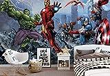 Wallsticker Warehouse Marvel Avengers Fototapete - Tapete - Fotomural - Mural Wandbild - (960WM) - XXL - 312cm x 219cm - VLIES (EasyInstall) - 3 Pieces