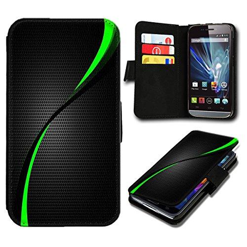 Book Style Huawei Ascend P7 Premium PU-Leder Tasche Flip Brieftasche Handy Hülle mit Kartenfächer für Huawei Ascend P7 - Design Flip SB287