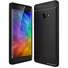Mi Note2 Funda, WindCase Resilient TPU Scratch Resistant Antideslizante Carcasa de Protección Rugged Armadura Case para Xiaomi Note 2 Negro