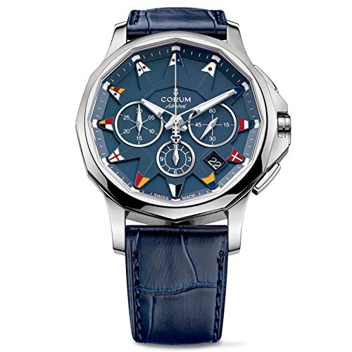 Corum Admirals Cup Legend 42 Homme 42mm Bracelet Cuir Bleu Saphire Automatique Montre 984.101.20/OF03 AB12