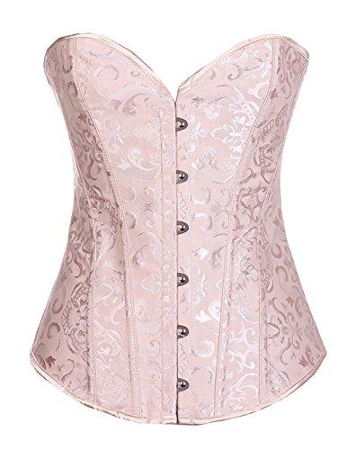 ZAMME Damen Korsett Vest mit Cups Plus Size Busiter (Size Plus Catwoman Kostüme)