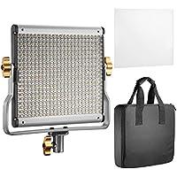 Neewer LED Vidéo Light Bi-Color avec kit de Support de U Réglable pour Studio, Tournage Vidéo Youtube, 480 ampoules LED, 3200-5600K, CRI 96+ (prise UE)