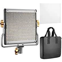 Neewer LED Video Light Bi-colore Regolabile con Staffa U Kit per Studio, Ripresa Video YouTube, 480 LED Lampadine, 3200-5600K, CRI 96+ (Spina EU)