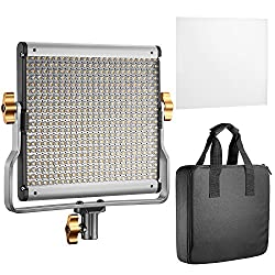 Neewer Dimmable Bi-color LED with U Bracket Professional Video Light for Studio YouTube Outdoor Video Photography Lighting Kit Durable Metal Frame 480 LED Beads 3200-5600K (UK Plug)