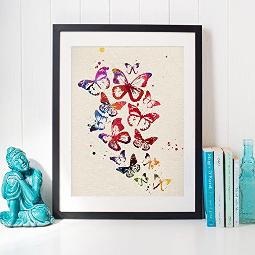 Nacnic Lámina para enmarcar Mariposas Laminas Decorativas para Pared. Laminas Estilo Acuarela. Regalos de la Naturaleza. Papel 250 Gramos