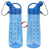 Water Bottle, 1 Litre Water Bottle, Motivational Water Bottle With Timer Bpa Free for Running Sports Gym Hiking School