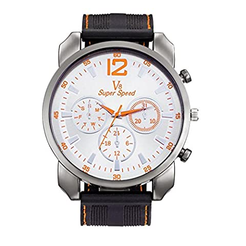 Herren Uhren, ihee New Fashion V8Herren Dünn Silica Gel Studenten Sport Quarz-Armbanduhr Casual Silikon Armband Quarz Armbanduhr M I