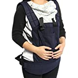 Komfort Babytragen mit Tasche Babybauchtragen für Neugeborene & Kleinkinder (Blau)