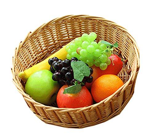 Accédez au pique-nique en osier Fruit Basket Panier de rangement, Set de 1
