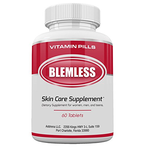 Blemless- Vitamins Supplements for Skin Clarification- 60 Natural Pills for Women and Men