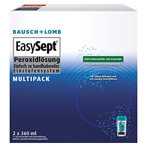 EasySept Multipack Pflegemittel für weiche Kontaktlinsen, 2 x 360ml