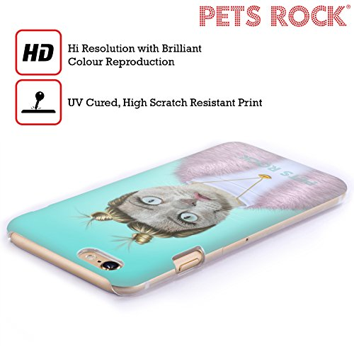 Ufficiale Pets Rock Vegas Musicisti 2 Cover Retro Rigida per Apple iPhone 6 / 6s Twerk