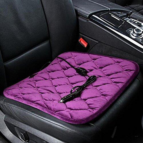 LPY-Auto Heizkissen Winter Sitz 12 V Auto Front Row Single Heizkissen Perfekt Für Kaltes Wetter , Purple