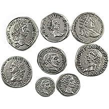 Eurofusioni Monedas Antiguas Romanas chapada Plata - 8 Piezas