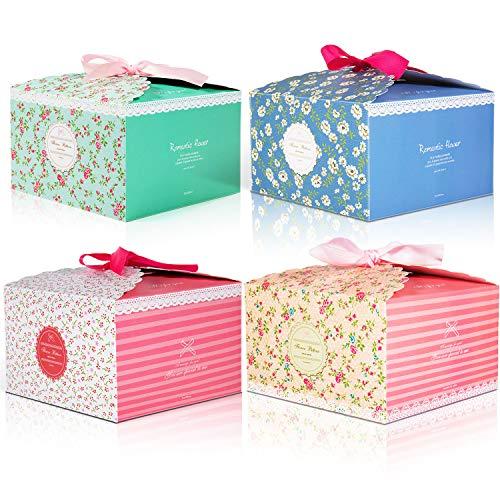 🎁 🎁 Tan lindas y bonitas  Cajas de regalo de MOOKLIN , es genial empacar regalos para las personas.  Simplemente asegúrate de tamaño para guardar cupcakes, galletas, brownies u otros dulces que hayas hecho en casa, sería un gran regalo de vuelta en t...