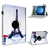 UC-Express Blaupunkt Discovery A10.302 Tablet Hülle Tasche Schutzhülle Case Schutz Cover 360° Drehbar 10.1 Zoll Etui, Farbe:Motiv 4