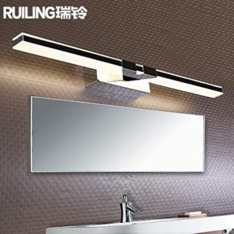XiangMing  Ante el espejo lámpara Led impermeabilización , Media 56cm-11W- luz blanca natural
