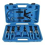 FreeTec 9-tlg Schlauchklemmenzange Schlauchschelle Schlauchklemmen-Zange Spezial Zange Werkzeug