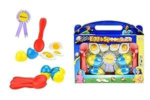 Toi-Toys-Juego de Huevo y Cuchara Figura, 51125a, Multicolor