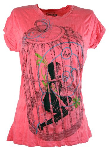 Pure t-shirt-sure-shirts/framboise Rouge