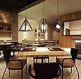 """LEDNut geometrica Shape LED Ciondolo soffitto sospesa lampada cromo Illuminazione Faretti Proiettore 3 luce in 1 Piano Cottura di rettangolo d13.8 X L47 """""""