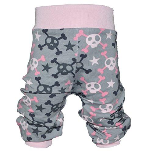 Pumphose,Babyhose,Kinderhose Pastell Skulls rosa von NEJA Design (62/68)