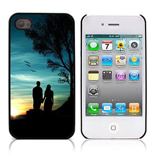 Graphic4You Stick People love drawing Design Harte Hülle Case Tasche Schutzhülle für Apple iPhone 4 und 4S Design #7