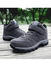 shoe Zapatos para Caminatas Al Aire Libre de Mediana Edad Y Altos, Zapatos para Caminar Extra Grandes,Gris,43