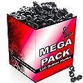 S4U Black Gutter Hooks, Free UK DELIVERY, Gutter Hook Multi Pack for Securing Lights to Guttering
