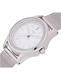 Spirit Ladies Analogue Round White Dial With Silver Mesh Bracelet Strap ASPL104
