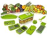 Imaging Solutions ABS Quality 11 pcs Set Best Mandoline Kitchen Genius Slicer Dicer Multipurpose Chopper Nicer Slicer Dicer - Vegetable and Fruit Chopper, Slicer, Cutter, Grater, Peeler for salads