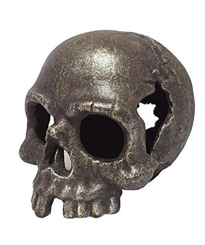 Totenkopf Gusseisen Briefbeschwerer Piratenkopf Skull Memento Mori