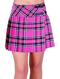 EyeCatch - Jupe courte Quilt motif tartan écossais - Kyla - Femme