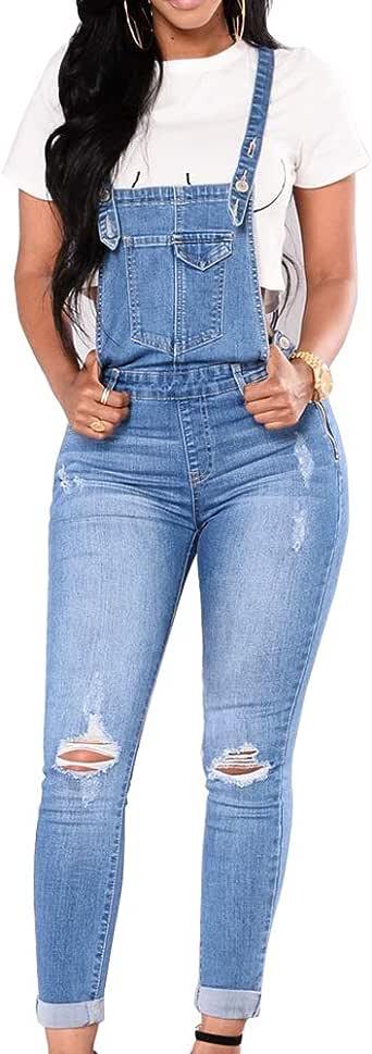 Moda Donna Jeans Corta Morbuy Nuovo Salopette Senza Maniche Bretelle Jumpsuit Tasche Elasticit/à Denim Pantaloncini Pantalone Overall Monopezzi Partito Playsuit