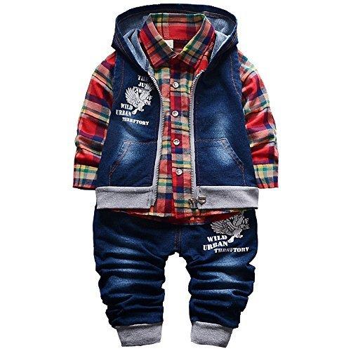 Spring Autumn Baby Boys 3pcs Clo...