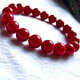 Natural Coral Bracelet (Moonga Bracelet), RED CORAL, CORAL BRACELET 8MM BEADS CORAL BRACELET / MOONGA BRACELET