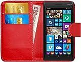 G-Shield Hülle für Nokia Lumia 930 Klapphülle mit Kartenfach - Rot