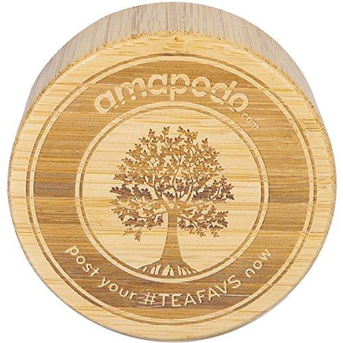 amapodo Bambus-Deckel als Ersatz für Teebereiter Teeflasche Trinkflasche Teekanne Thermo Tee-Glas Teezubereiter Becher Tea Maker Infuser glass mug (Echte Trinken Männer)