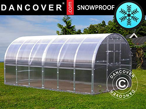 Dancover Serre Polycarbonate Titan Arch 320, 12m², 3x4m, Argent