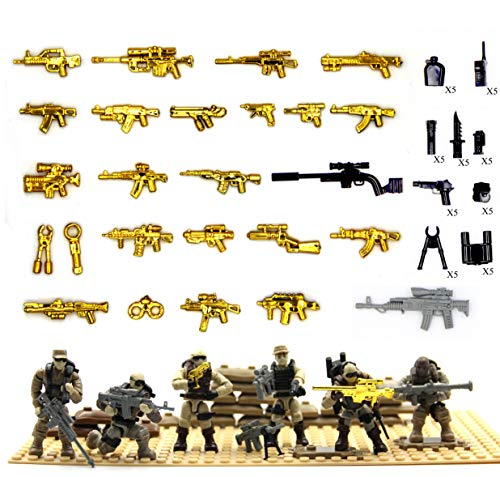 MAGMABRICK Call of Duty Dessert Soldier Action Figures and Weapon Tools compatible with the Major Brand Building Game
