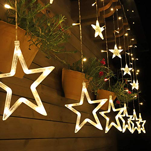 Salcar 2m x 1m Luces de Cortina de Estrella LED