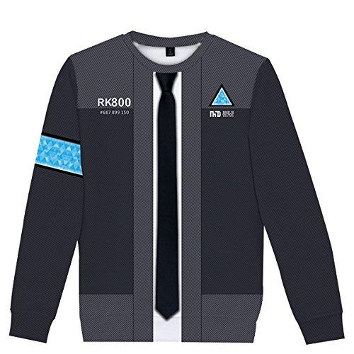 CTOOO 2018 Damen Und Herren Become Human Detroit 3D Druck Sweatshirt Für Männer Und Frauen Pullover Schwarz XXS-XXXXL