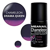 Meanail Paris – semipermanenter Gel-Nagellack UV/LED – Kollektion CHAMELEON – Thermo-Effekt - farbwechselnd - soak off nail polish - vegan and cruelty free - 10ml - Farbe : DRAMA QUEEN - F170