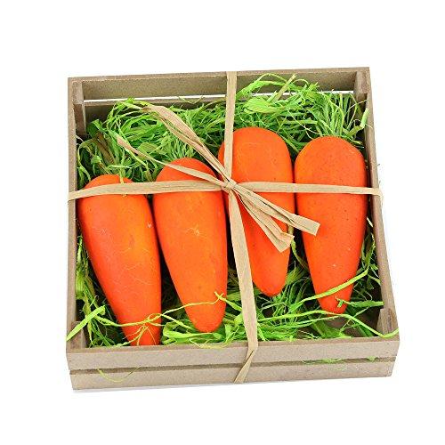 Wewill Marca 5 scatole / Set, 4 pc / scatola della gomma piuma Beatiful realistica (Easter Bunny Ornamento)