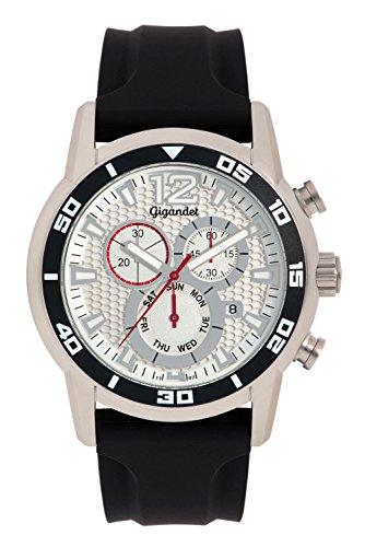 Gigandet Speedbike Men's Analogue Wrist Watch Quartz Chronograph Black Silver G14-004