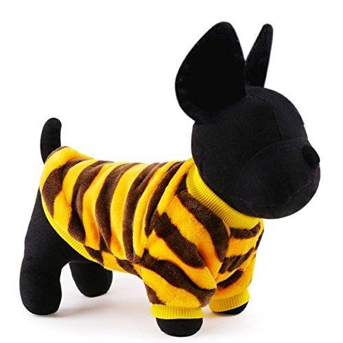 LA VIE Hundepullover Samt Hoodie Kapuzenpullover Warme und Bequeme Winddicht Wintermantel Hundebekleidung für Kleine und Mittlere Hunde Katze Welpen Gelb S