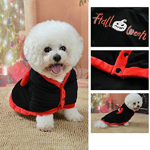 Cute Kostüm Frankenstein - strimusimak Cute Pet Dog Puppy Cape Halloween Style Kostüm Bekleidung Autumn Outfit Clothes-XS