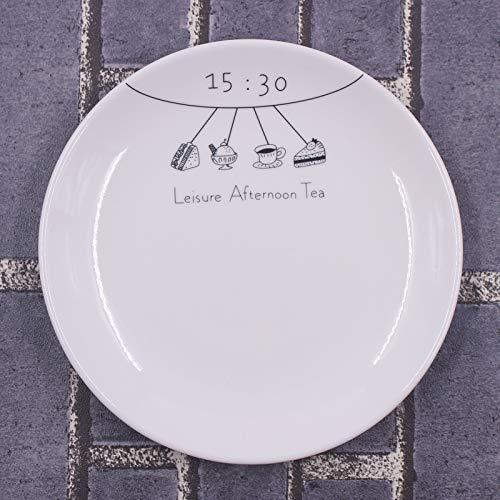 ALILEO Kreative Mahlzeit Brief Frühstücksteller Western Teller Disc Home Teller Teller Kuchen Snack Snack Obstteller, 15:30 8-Zoll-Platte -